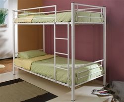 Delta White Twin Over Twin Metal Bunk Bed #metalbunkbed