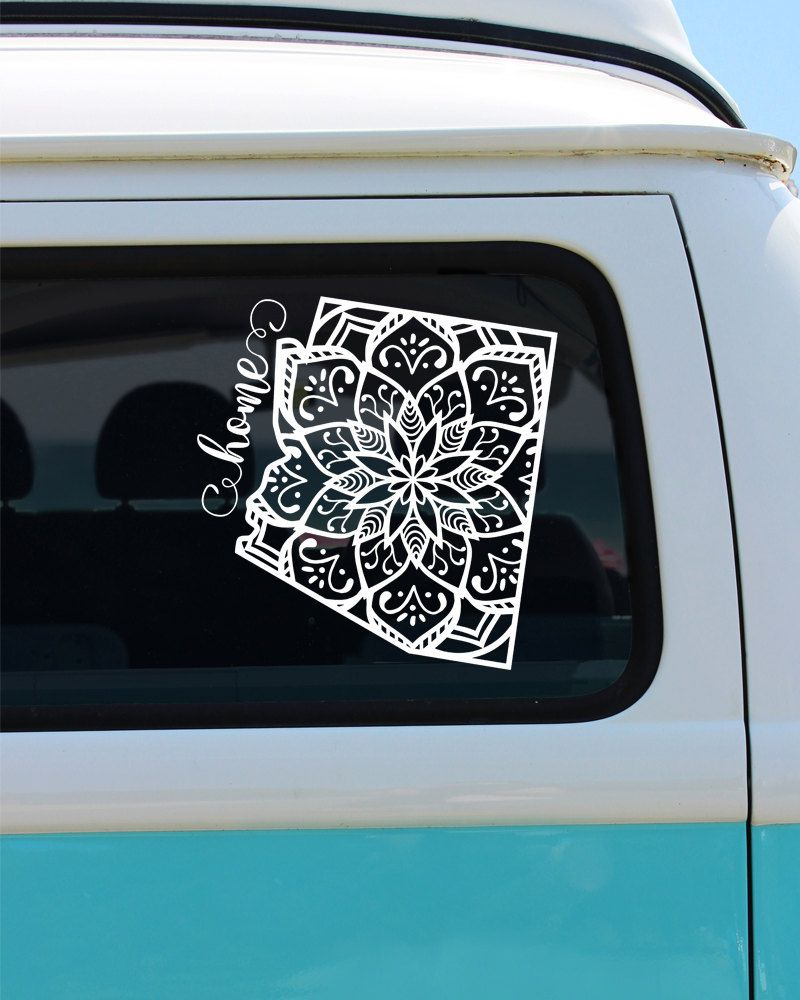 Car sticker design pinterest - On Sale Arizona State Mandala Vinyl Decal Sticker Car Sticker Mandala Decal 5 10