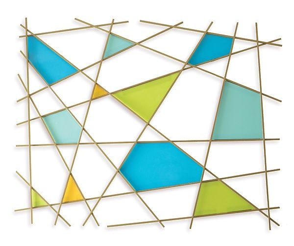 Triangulation by Karo Martirosyan: Art Glass Wall Sculpture available at www.artfulhome.com