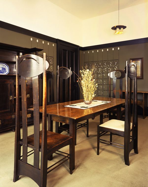 The Dining Room In Mackintosh House At The Hunterian Art Gallery #inGlasgow  #Mackintosh #CharlesRennieMackintosh. ...