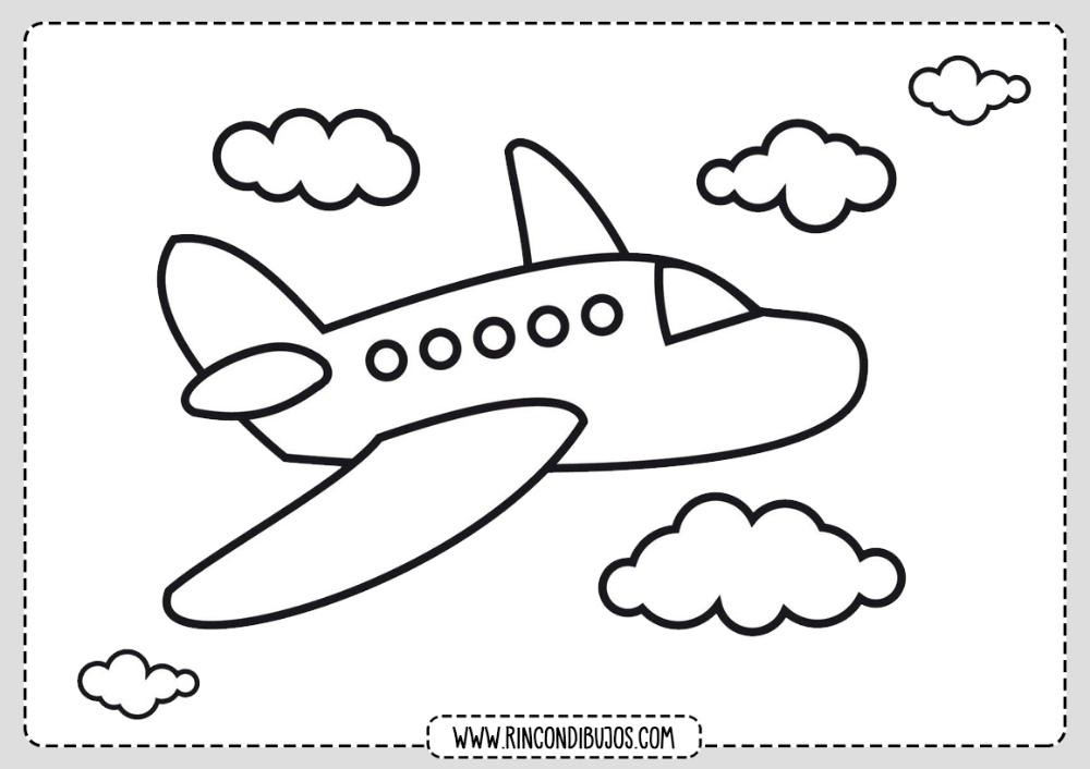 Dibujo De Avion Para Colorear Para Ninos Rincon Dibujos Colorear Para Ninos Aviones Para Dibujar Imagenes Para Colorear Ninos
