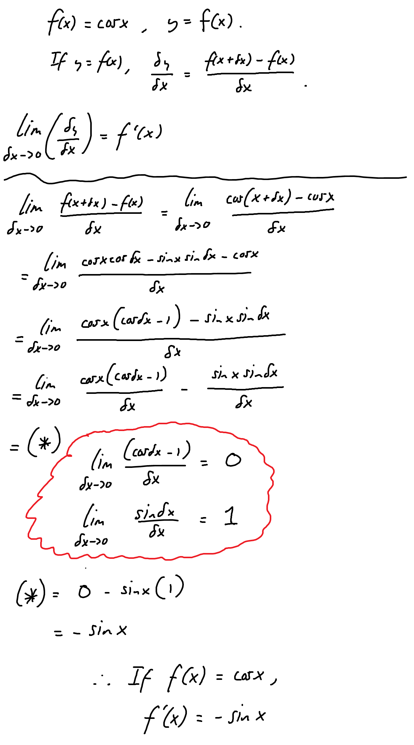 Derivative of cosx... | Brainly Answers | Pinterest