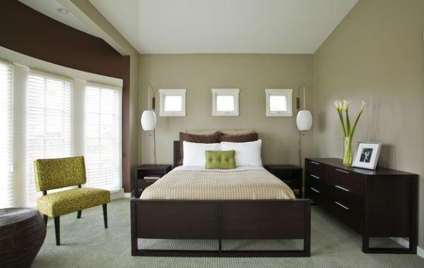 Die nächsten Farben in der Liste sind Gelb und Grün Überraschend - schlafzimmer ideen grau braun