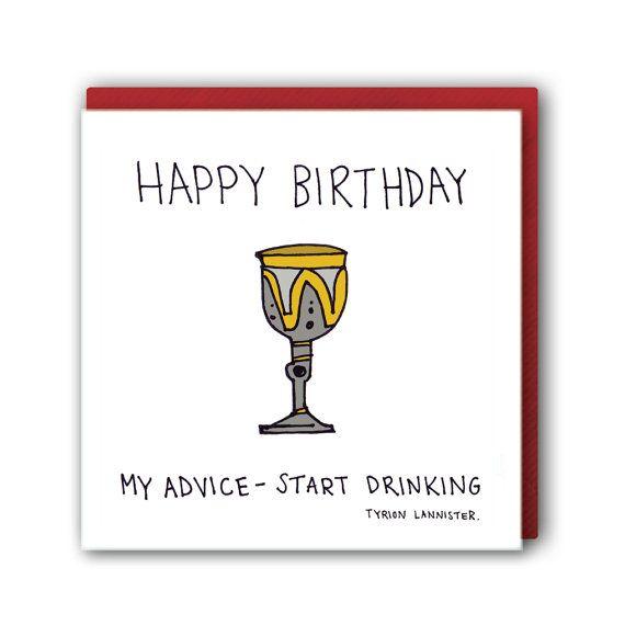 Original Game Of Thrones Birthday Card