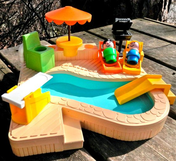 Fisher Price Pool by LittleCityVintage on Etsy, $45.00