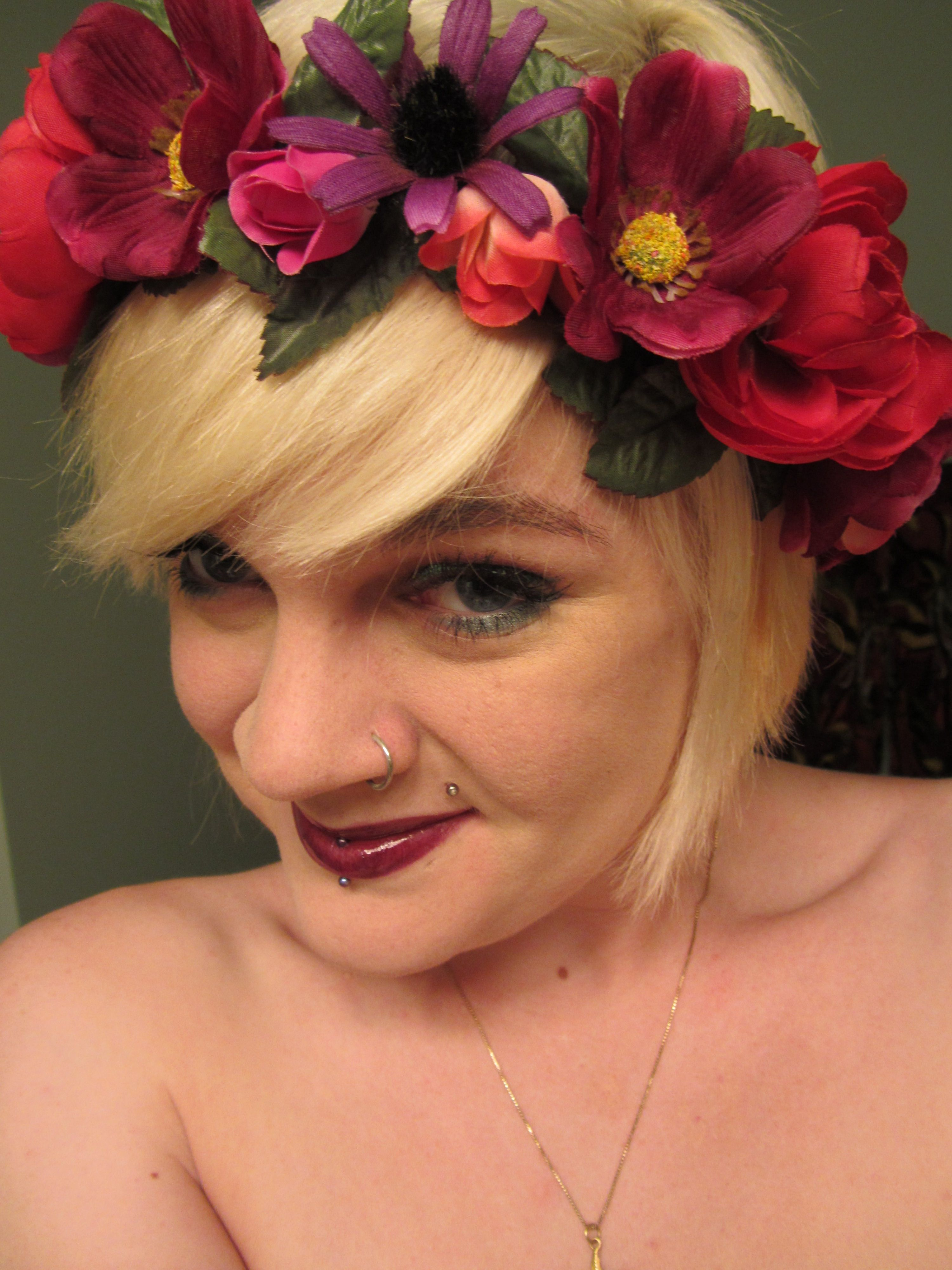 Zombie wedding decorations  Floral headpiece designed by Morrigan Parker  Wedding thoughts