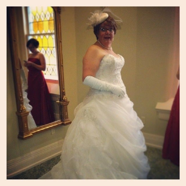 Penny was gorgeous in her gown! Bridal Consultant, Wilma, had the ...