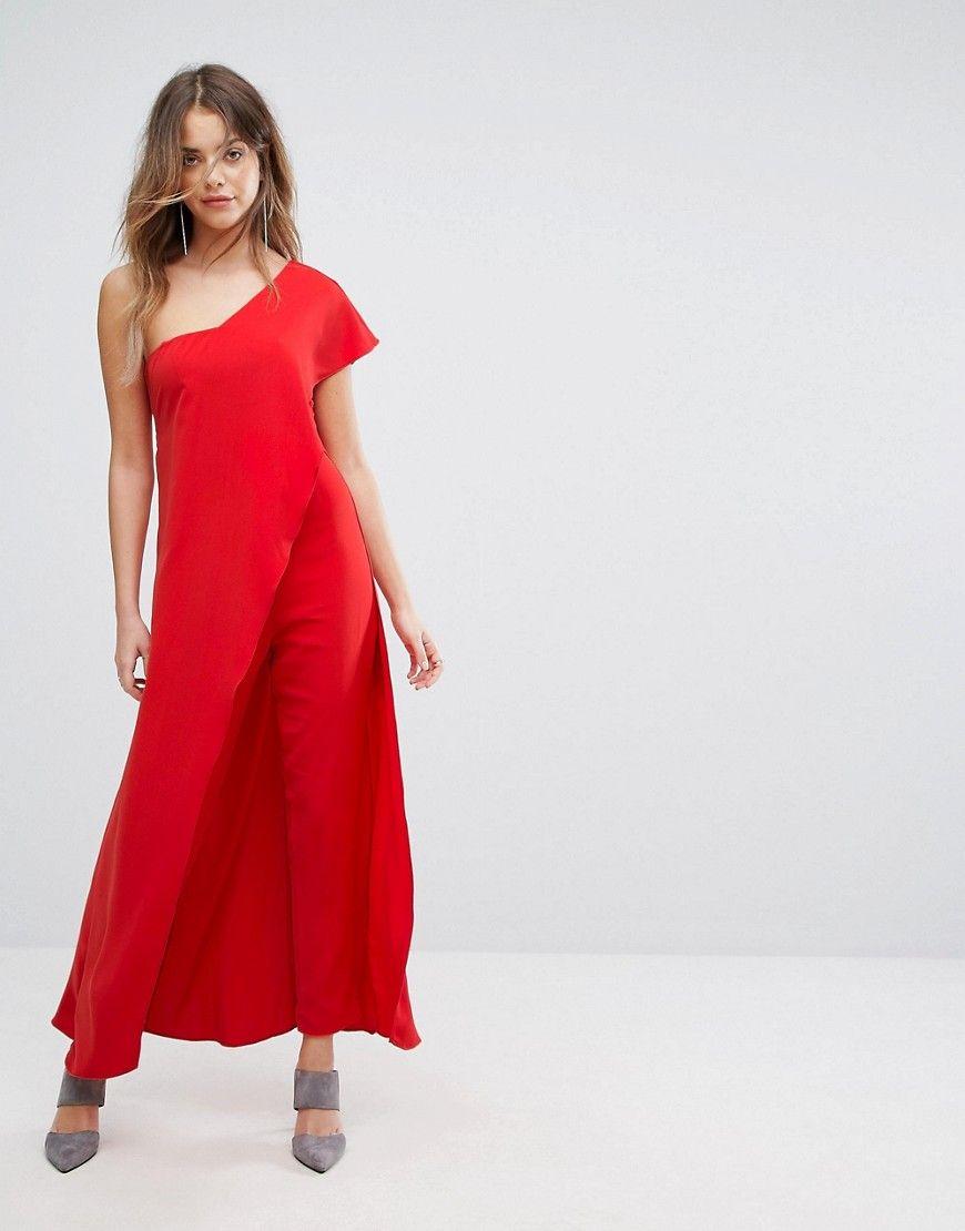 a3025896317 LAVISH ALICE ASYMMETRIC OVERLAY JUMPSUIT - RED.  lavishalice  cloth ...