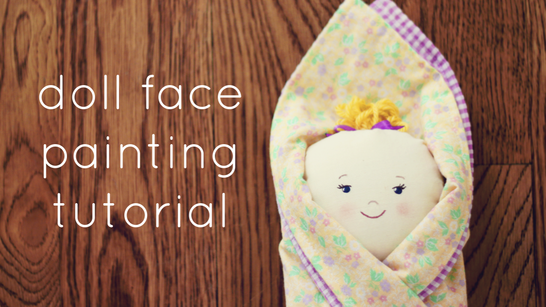 doll face painting tutorial from beccamariedesigns.blogspot.com. A simple tutorial on how to paint a face on fabric. I was very intimidated by this but when I tried it, it turned out to be easy! #dollfacepainting