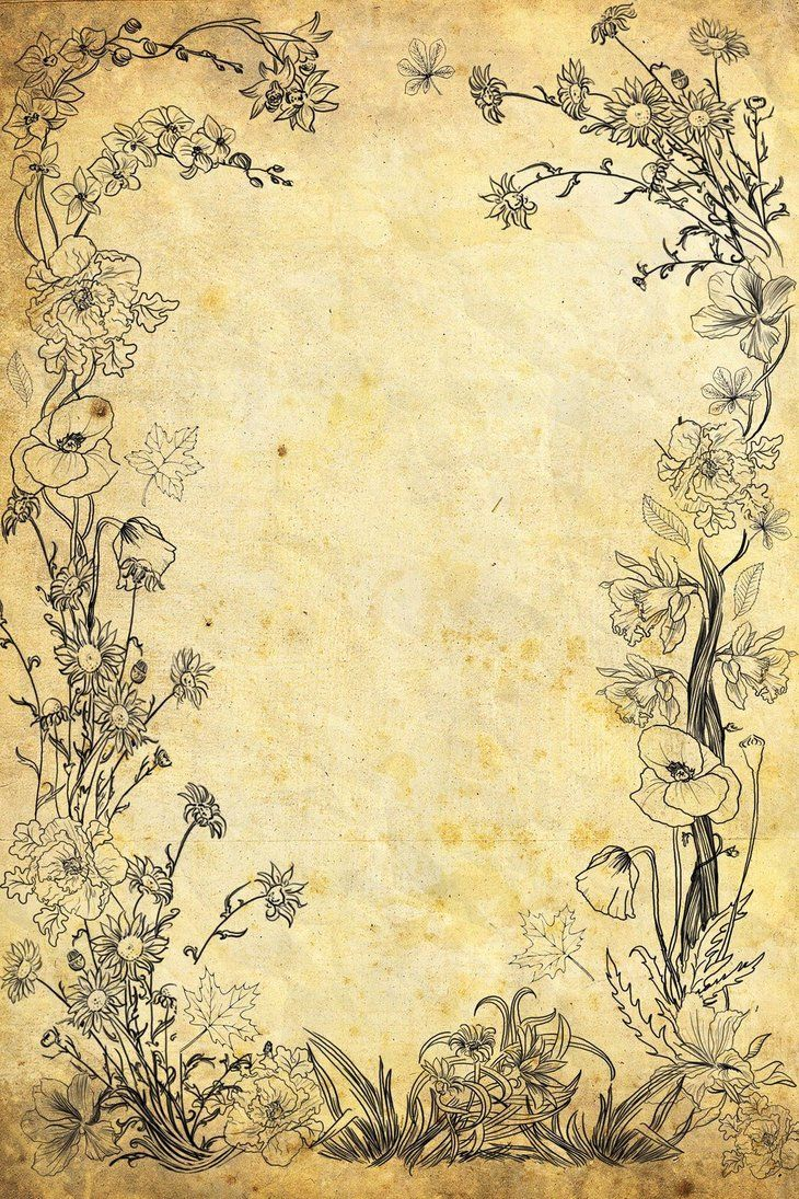 Flower Old Paper By Vanessabettencourt On Deviantart Vintage Paper Background Old Paper Background Old Paper