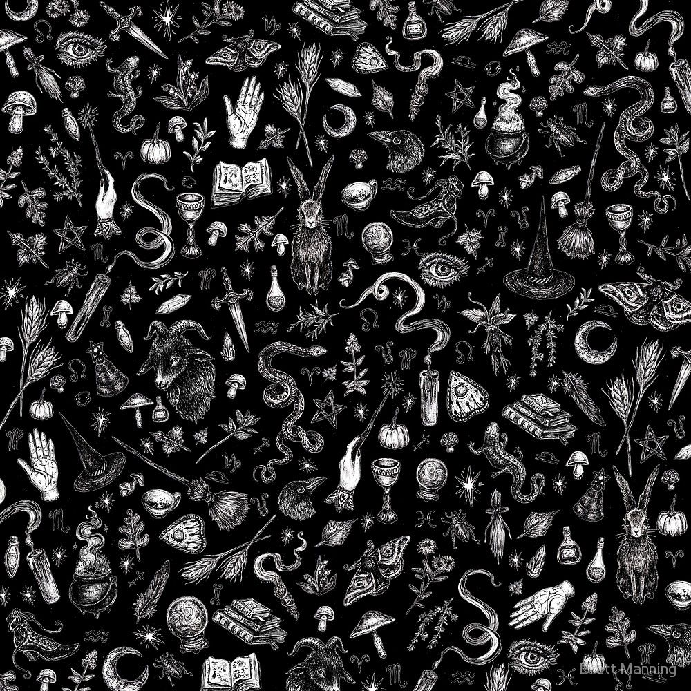 """Salem Witch in Black"" by Brett Manning | Redbubble ..."