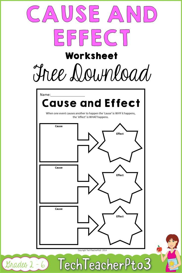 Cause And Effect Worksheet Free Download Tpt Misc Lessons