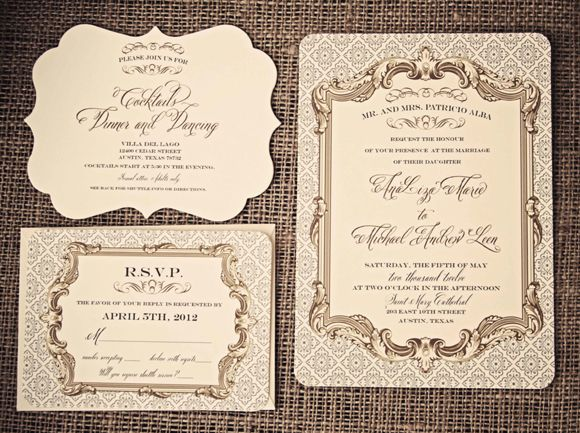 Gorgeous Wedding Invitations: Gorgeous Baroque Elegance Invitation