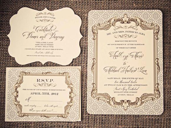 Baroque Wedding Invitations: Gorgeous Baroque Elegance Invitation
