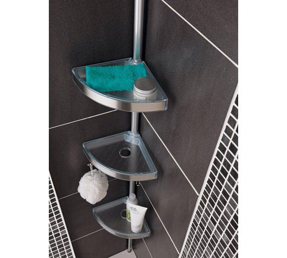 Buy Slatted Shelf And Towel Rack Rail Aluminium At Argos Co Uk Your Online Shop For Towel Rails And Rings 14 99 Slatted Shelves Towel Rail Kitchen Rack