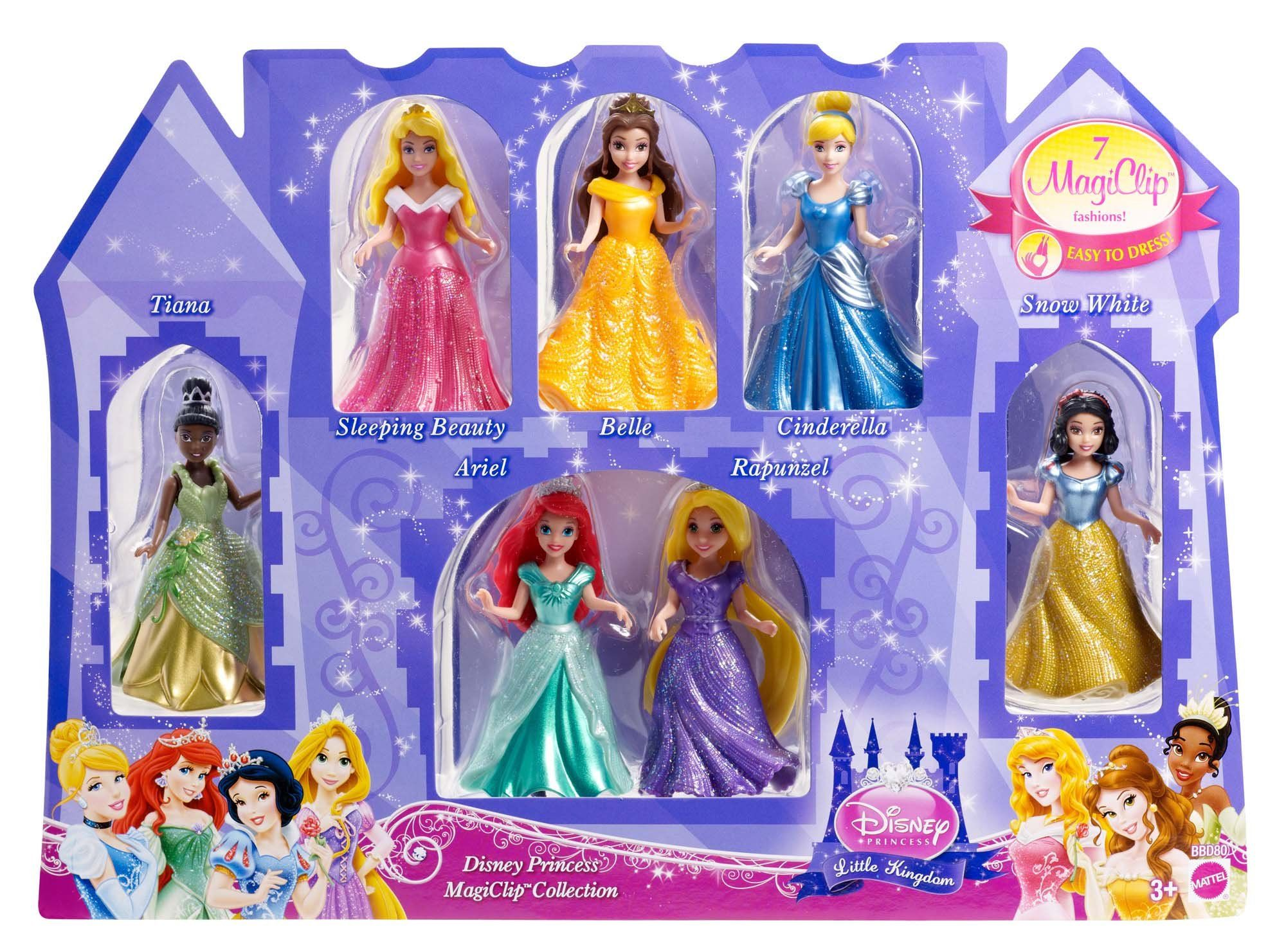 Disney Princess Little Kingdom Magiclip 7 Doll Giftset Toys Games Probably