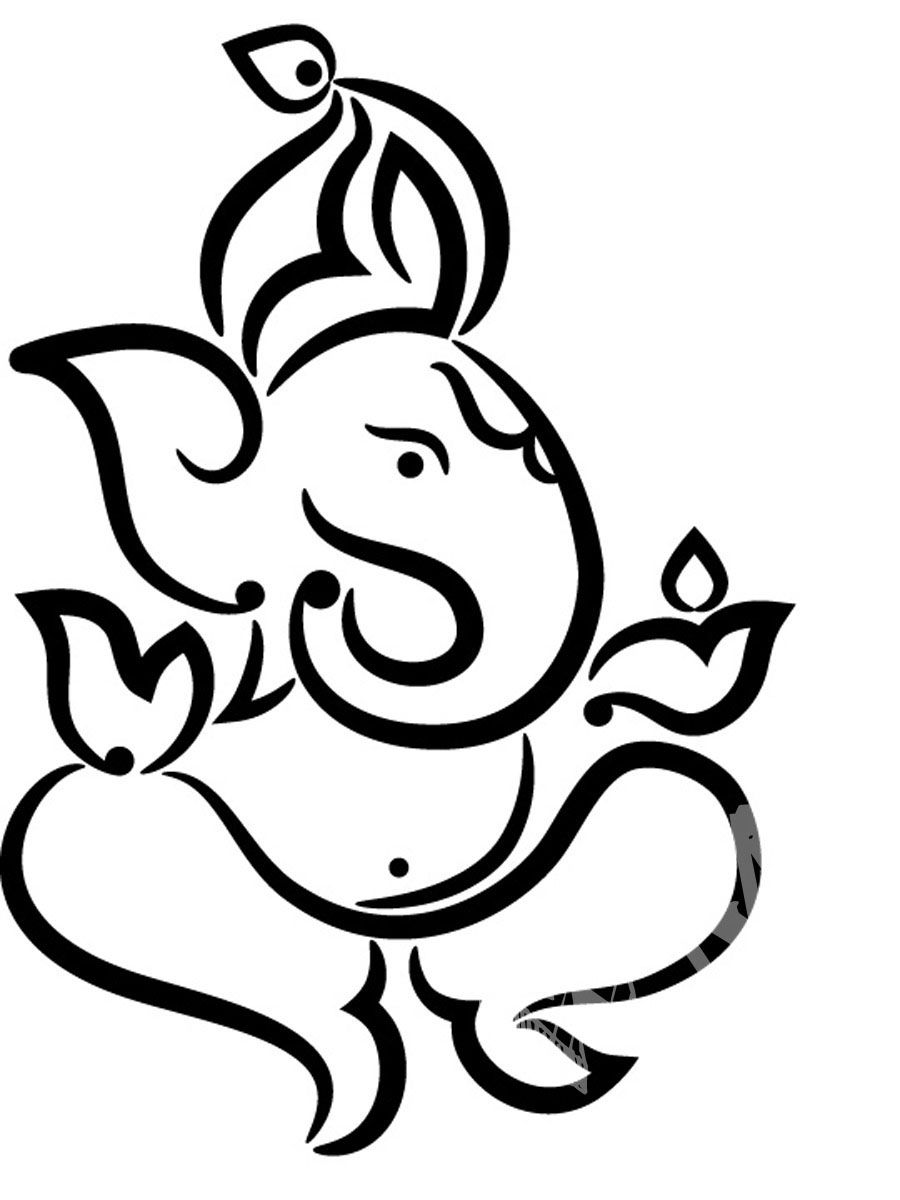 Pics For Ganpati Images For Drawing Stamp Ideas In 2019