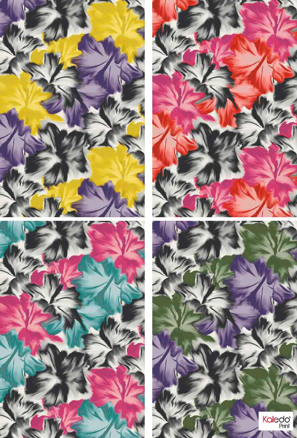 Floral prints created with Kaledo Print. Discover more at www.lectra.com.