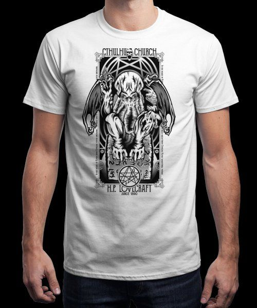 """Cthulhu's Church"" is today's £9/€11/$12 tee for 24 hours only on Pin this for… 