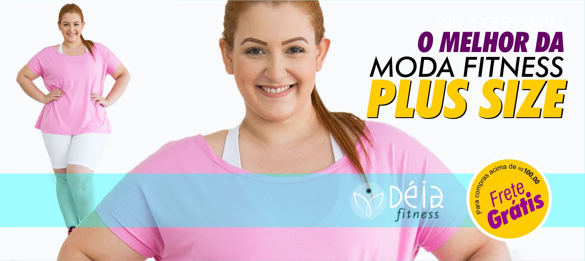 Moda Fitness Plus Size - Roupas de Ginástica   Déia Fitness