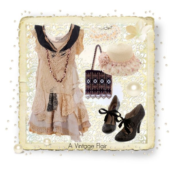 """A Vintage Flair"" by heavenly-spider on Polyvore"