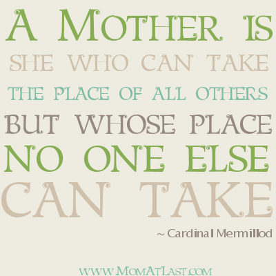 No One Can Replace Mother | Mom Quote | Mom At Last