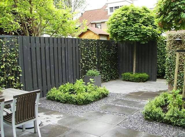 Pin von marjan van noordennen auf Verhoogde Tuinen Pinterest - moderner vorgarten mit kies