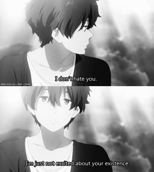 Anime Hyouka Anime Quotes Anime Quotes Inspirational Anime Qoutes