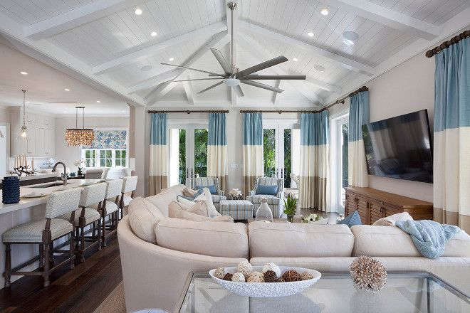 Florida Home With Elegant Coastal Interiors Family Room Paint Color Q