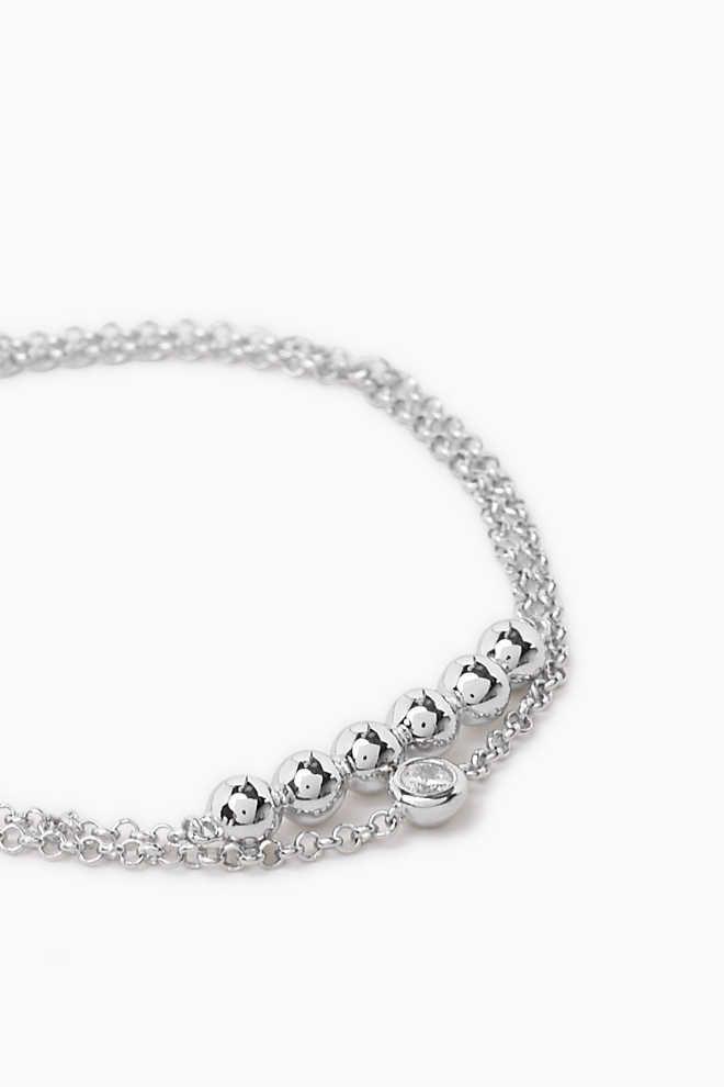 Esprit / Double-stranded sterling silver bracelet   Bracelets ...