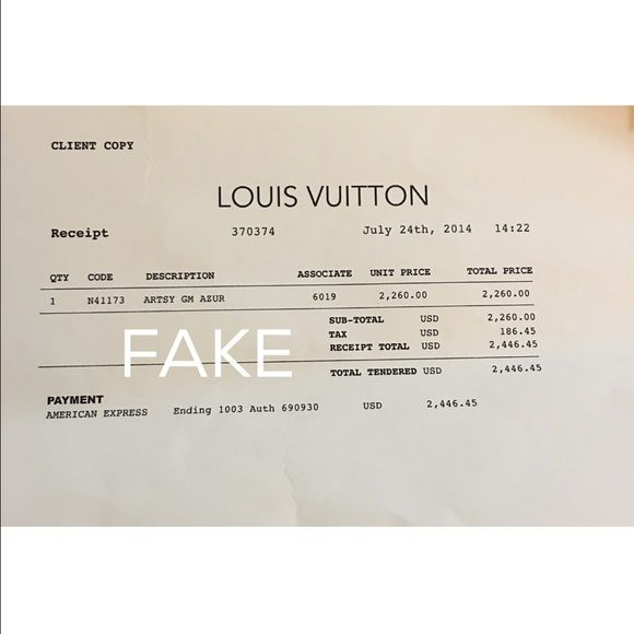 Real And F A K E Receipt Whenever You Buy The Bags Your Main Focus - Invoice template open office free gucci outlet online store authentic