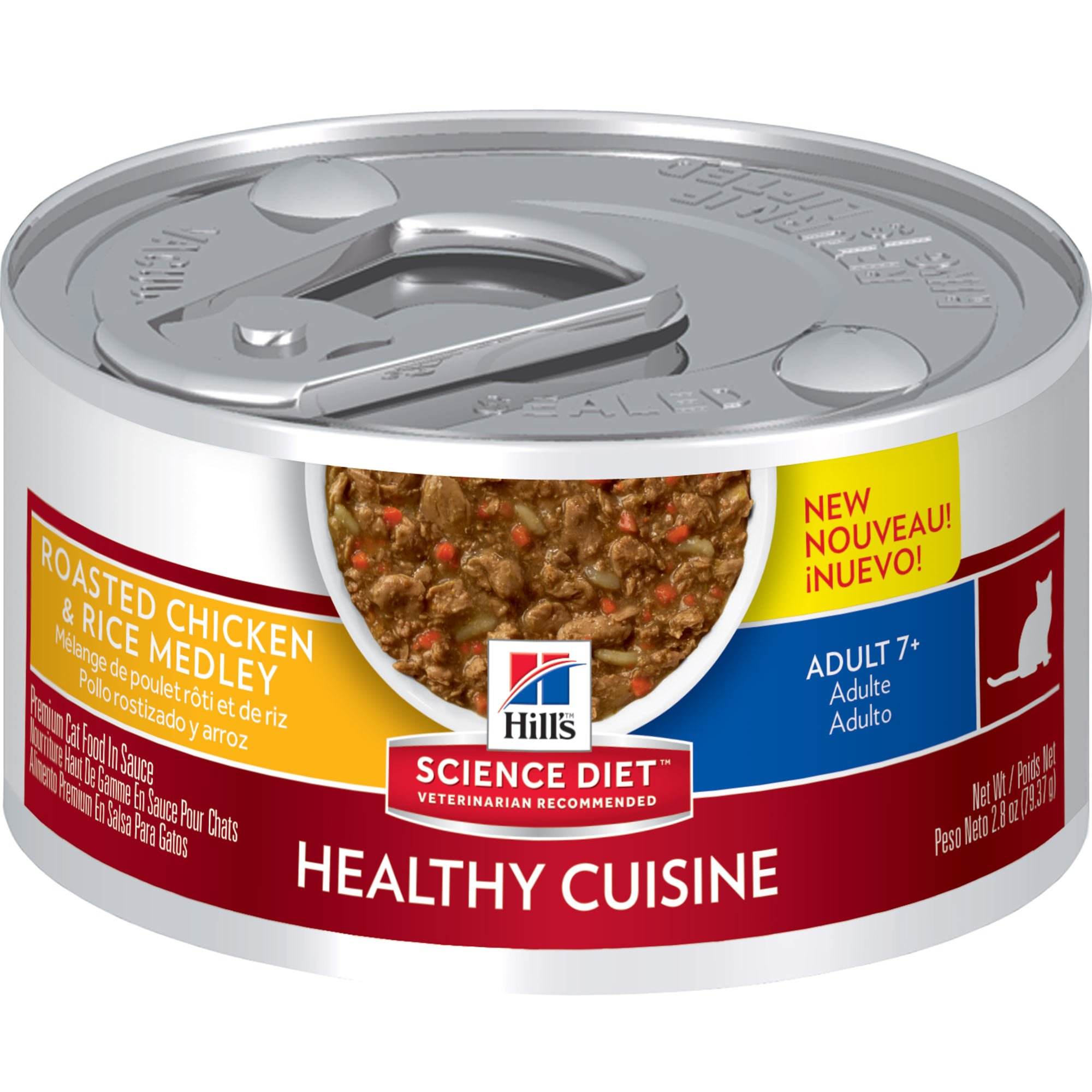 Hill S Science Diet Adult 7 Healthy Cuisine Roasted Chicken Rice Medley Cat Food 2 8 Oz Case Of 24 In 2020 Canned Cat Food Hills Science Diet Science Diet