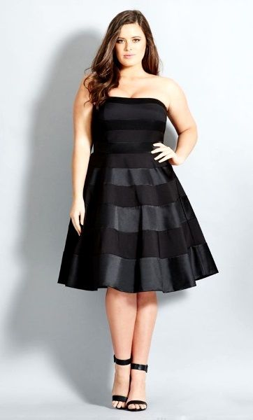 For The Chubby Girls Who Could Dare To Wear Plus Size Strapless Tank Tops Like This One Go On Girl
