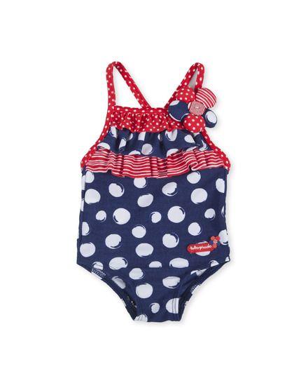Bañador de bebé niña Tutto Piccolo estampado con volantes Baby Girl Swimsuit 9b3bf1f68dbac