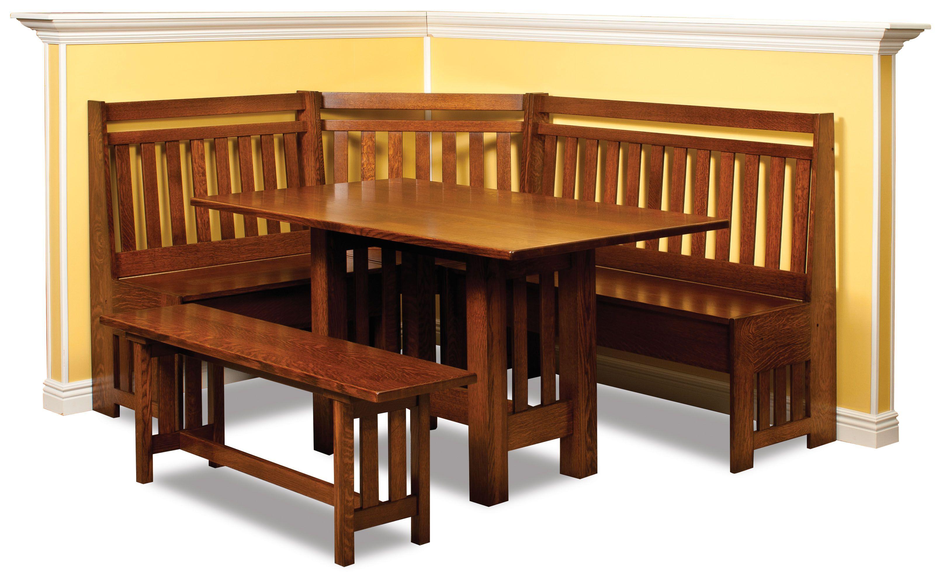 Wana Furniture Amish Furniture Shipshewana In Breakfast Nook Set Nook Dining Set Corner Dining Nook