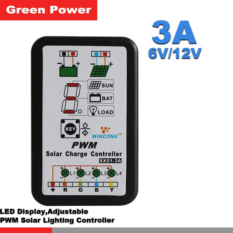Us 9 20 Piece Sx01 3a 6v X2f 12v Solar Controller Lithium Battery Charge Controller Led Lawn Garden Lamp Led Strip Str Garden Lamps Solar Lawn And Garden