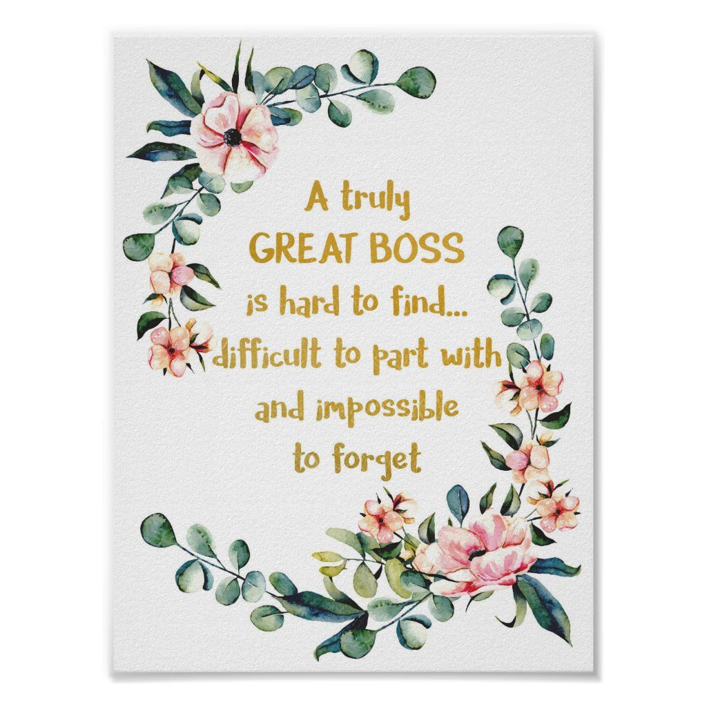 A truly great boss is hard to find poster print zazzle