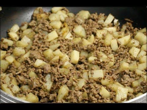 Carne molida con papas/Ground beef with potato - YouTube #carneconpapas