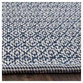 Coachella Woven And Flatweave Rug Safavieh Flat Weave Rug Navy Cotton Rug Navy Area Rug