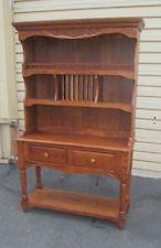 57641 -T1 Oak China Hutch cabinet Curio with Plate rack & 57641 -T1 Oak China Hutch cabinet Curio with Plate rack | KATIA ...