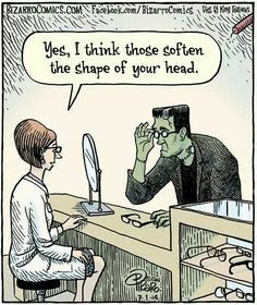halloween-johkke-frankenstein | Optometry humor, Eye jokes, Bizarro comic