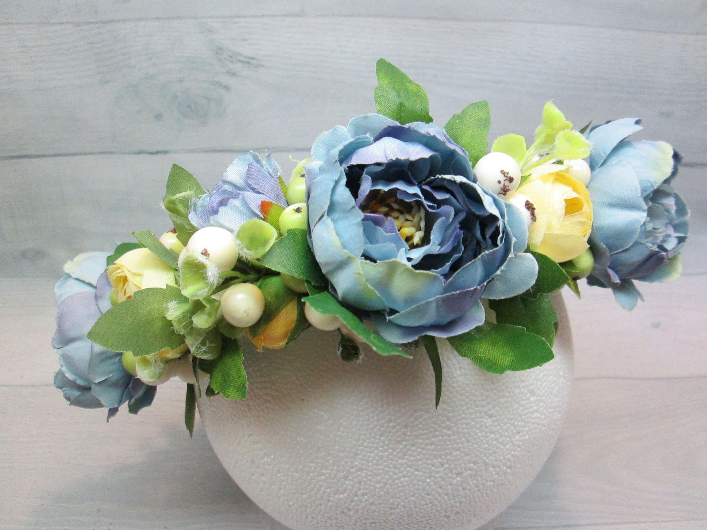 Flower girl hair bridal headpiece rown wedding flower wedding flower girl hair bridal headpiece rown wedding flower wedding blue rown blue wedding izmirmasajfo Image collections