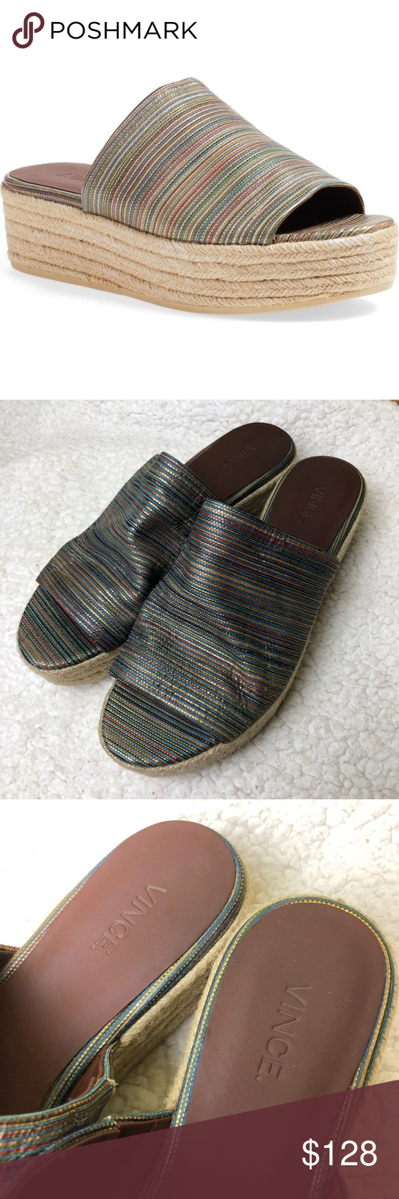 62606bc4ea4a Vince Solana Espadrille Platform Slides Sandals In amazing and clean  condition Vince Shoes Sandals