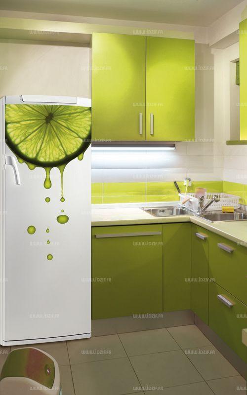 Décoration adhésive frigidaire Citron vert en 2018 Pour le Chalet