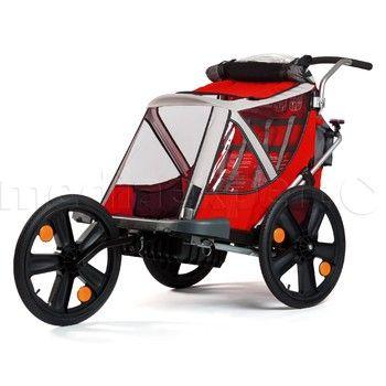 Przyczepka Rowerowa Bellelli Jogging Czerwona Media Expert Baby Strollers Stroller Jogging