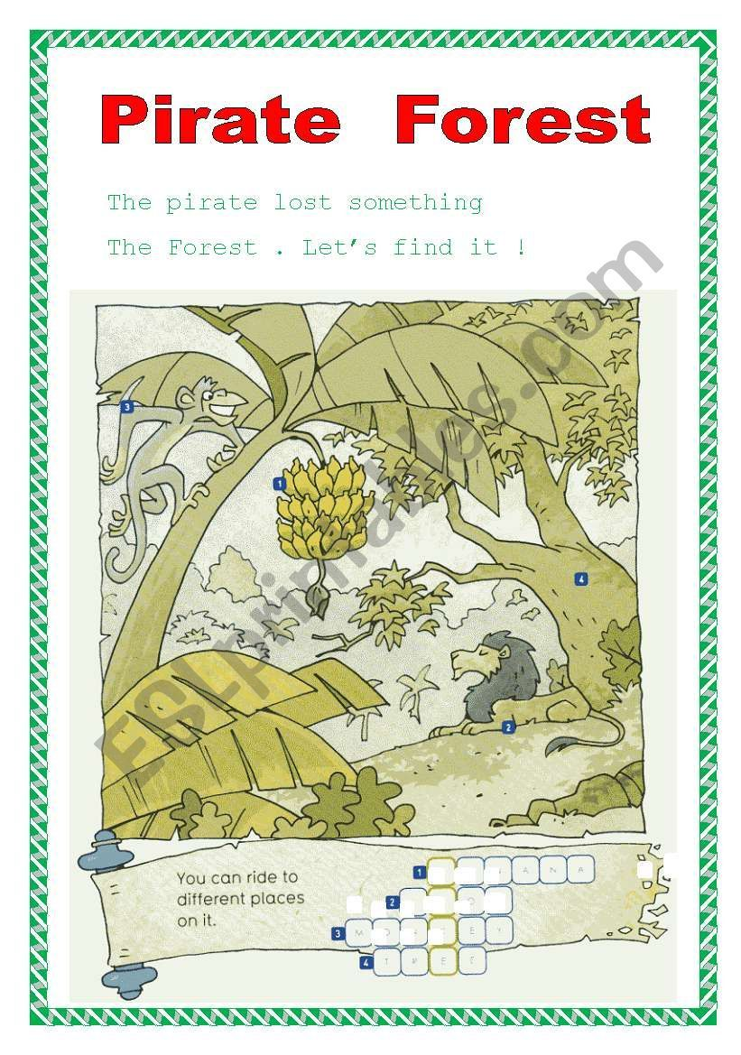 Find The Thing That The Pirate Lost Pirates Reading Worksheets Learn English [ 1169 x 821 Pixel ]