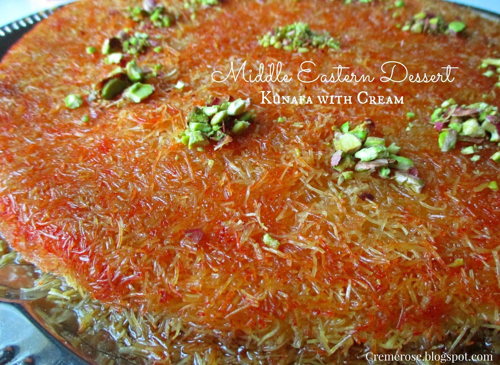 Happy Tuesday!     Today's post is a recipe of one of my favorite Middle Eastern Dessert: Kunafa with Cream. This dessert looks comp...
