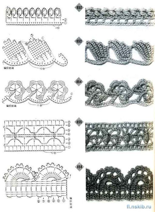 A group of crochet edges patterns. wonderful crochet edges. | 0 ...