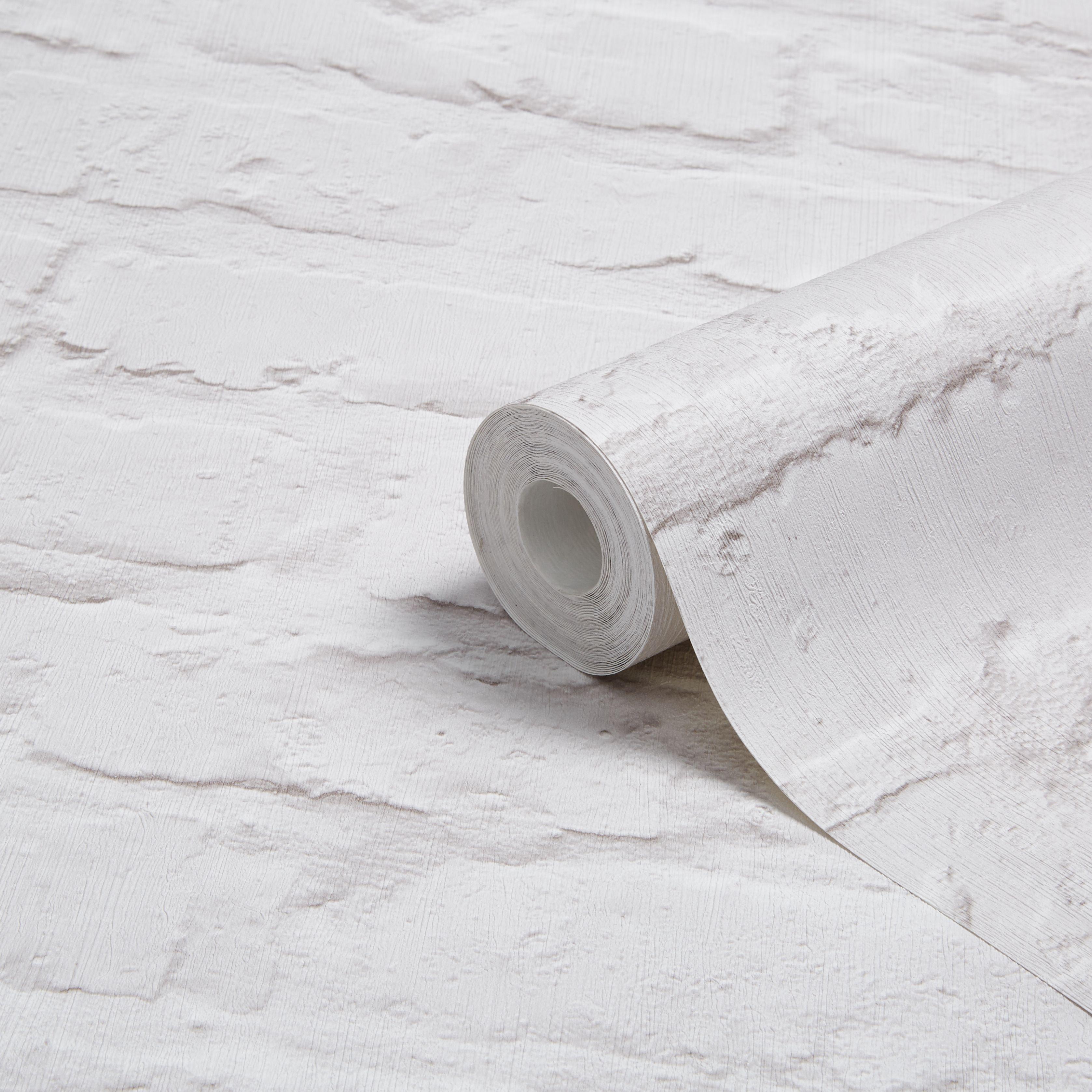 Colours White Painted Brick Wallpaper Departments Diy At B Q Brick Wallpaper Painted Brick Brick Wallpaper B Q