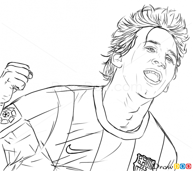 How To Draw Lionel Messi Celebrities How To Draw Drawing Ideas Draw Something Drawing Tutorials Por Coloring Pages Captain America Print Drawing Tutorial